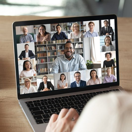 Video Chat on Laptop